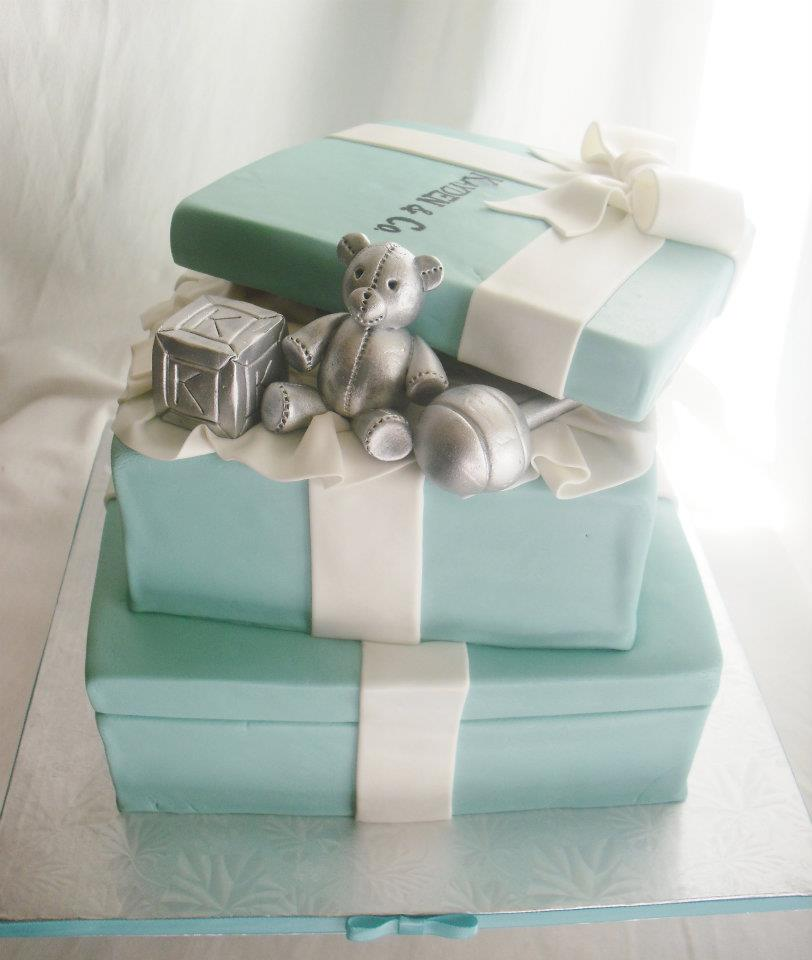 Tiffany and Co. Baby Shower Cake