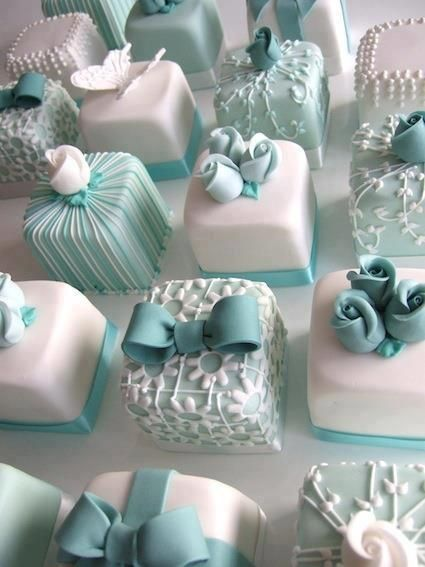 Tiffany Blue Mini Cakes