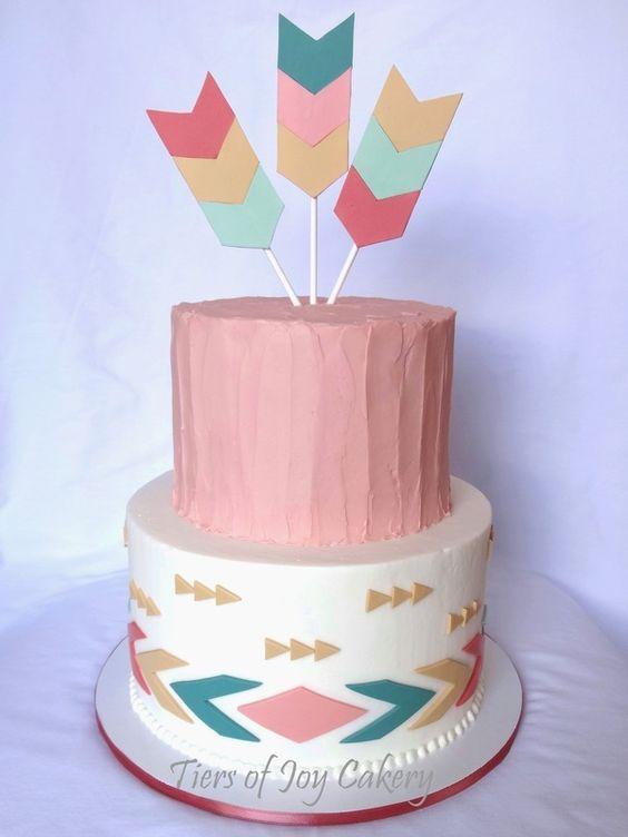 Tribal Arrow Baby Shower Cakes