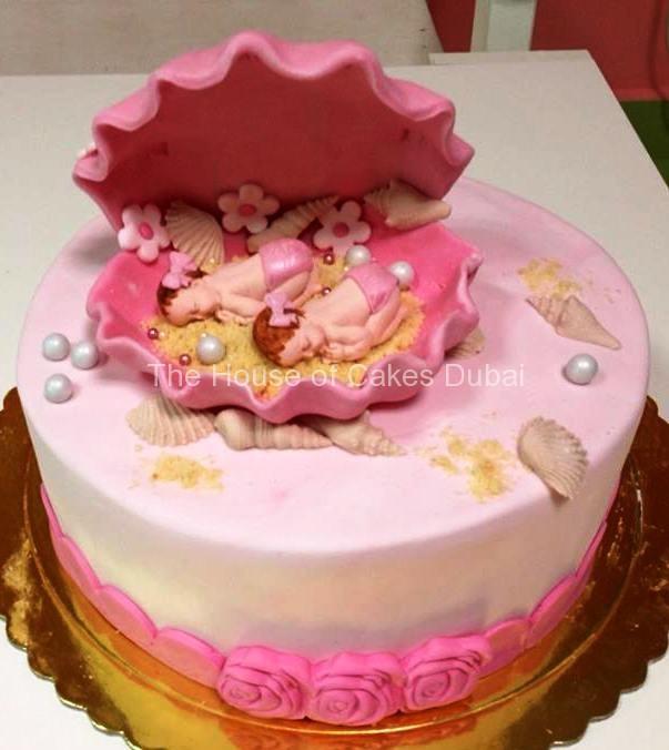 Twin Baby Girl Birthday Cakes