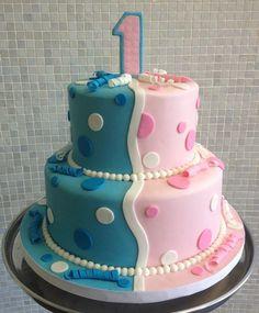Twin Girls 1st Birthday Cake Ideas
