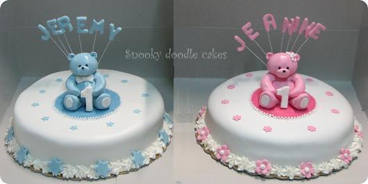 Twin Girls First Birthday Cakes