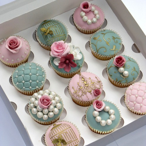 Vintage Wedding Cupcake Ideas