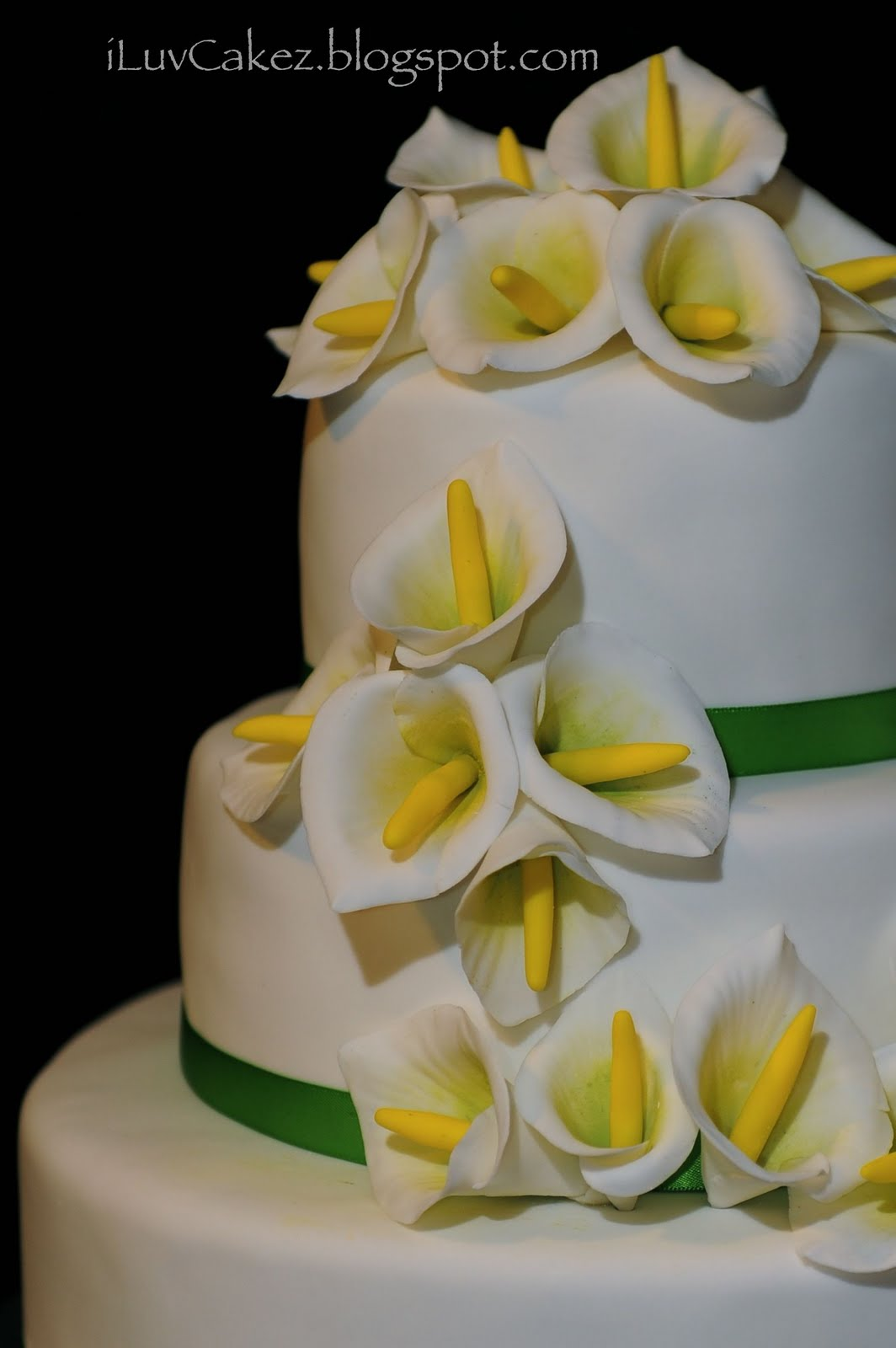 Wedding Cake with Calla Lilies