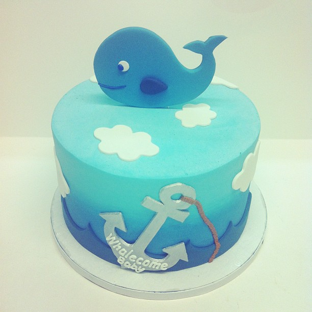 7 Photos of Family Whale Baby Shower Cakes