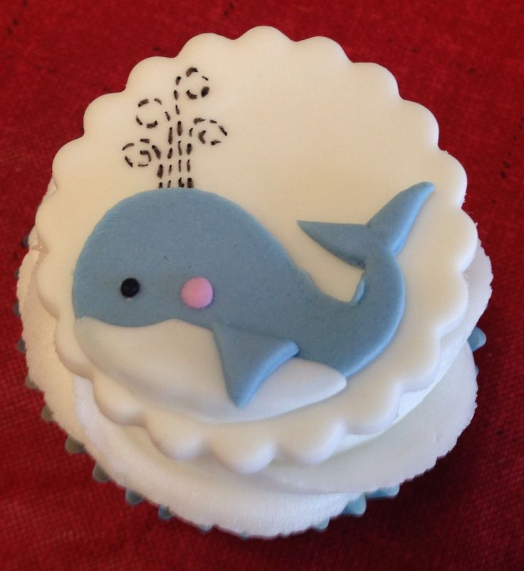 Whale Cupcake Cake