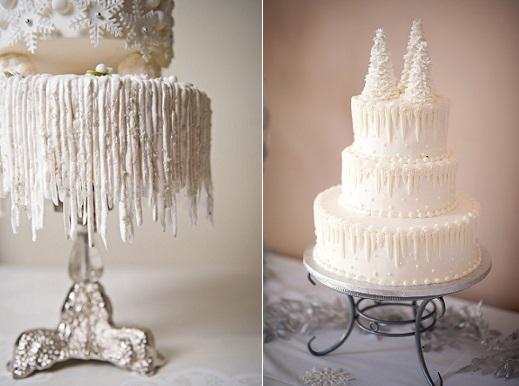 Winter Icicle Wedding Cake
