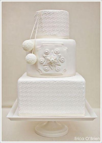 Winter White Wedding Cake