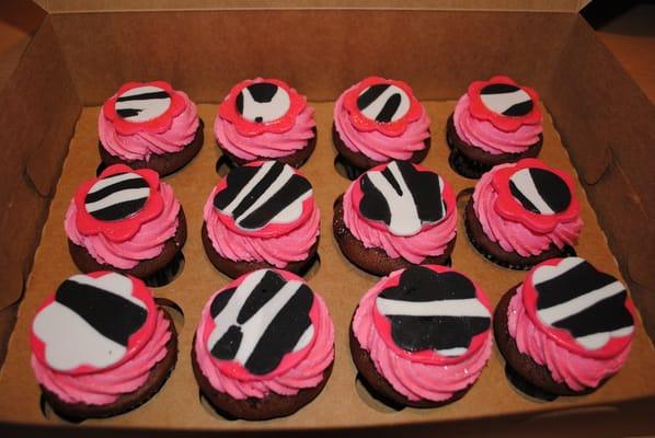 Zebra Baby Shower Cupcakes