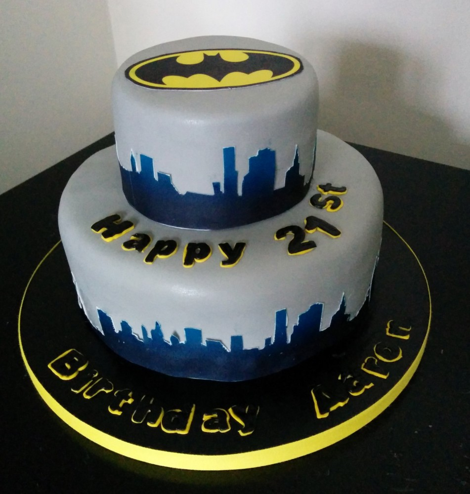2 Tier Batman Birthday Cake