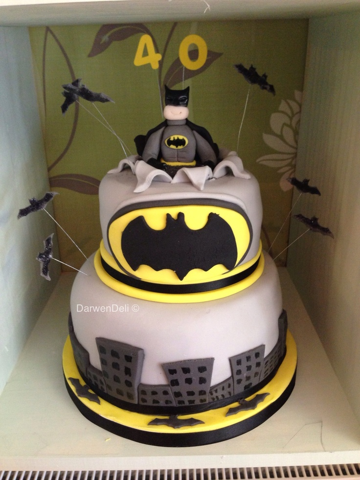 2 Tier Batman Cake