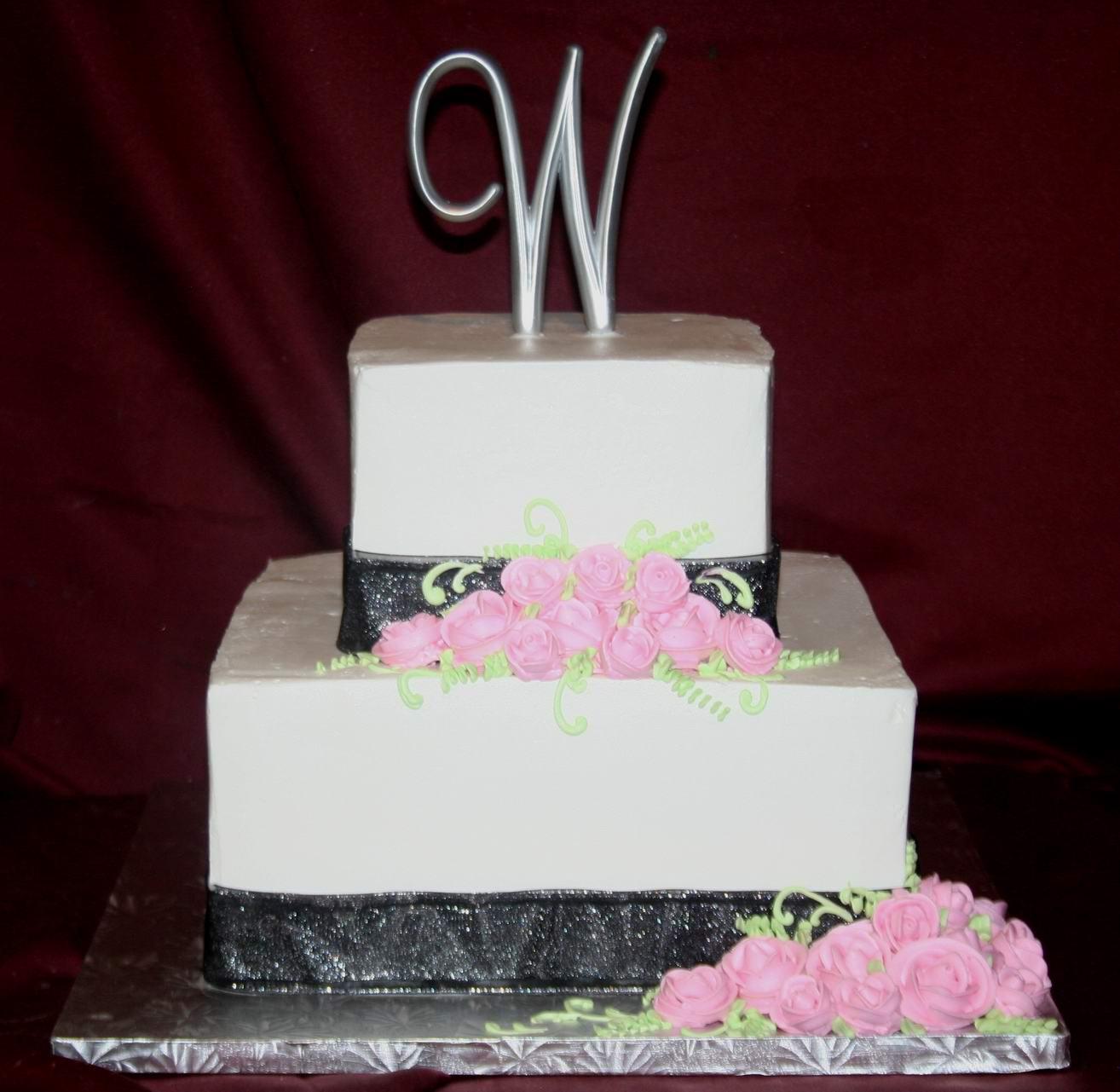 8 Photos of Simple 3 Tier Square Wedding Cakes
