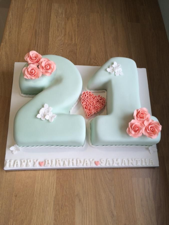 21st Birthday Cake Decorations