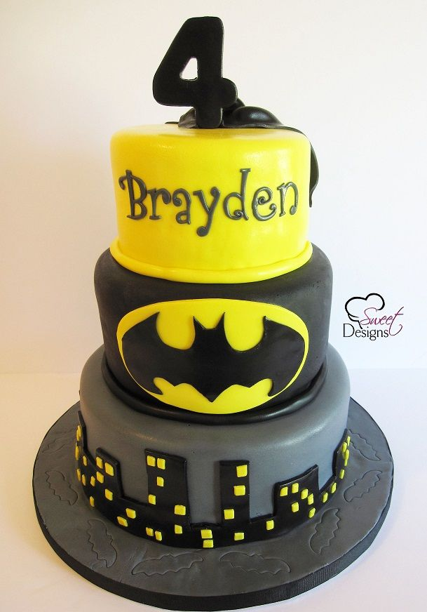 3 Tier Batman Cake