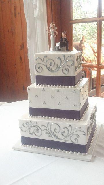 3 Tier Square Wedding Cake