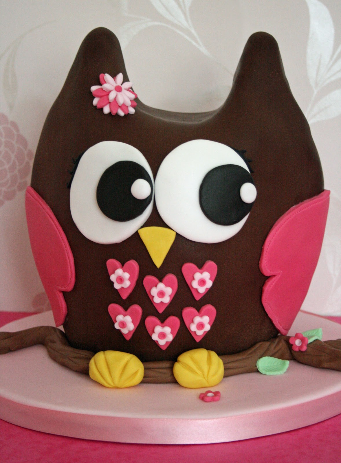 3D Owl Birthday Cakes for Girls