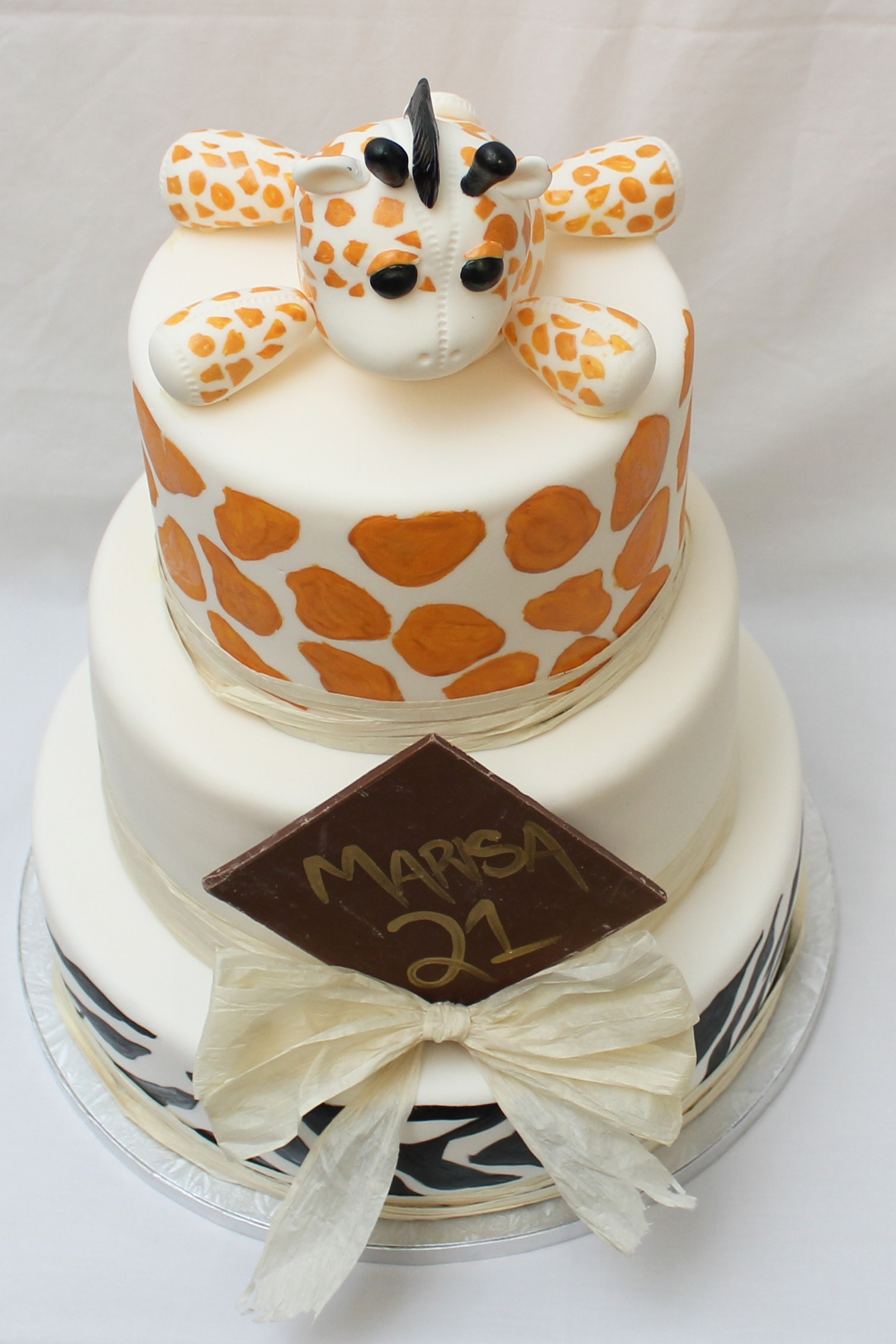 African Themed Birthday Cake