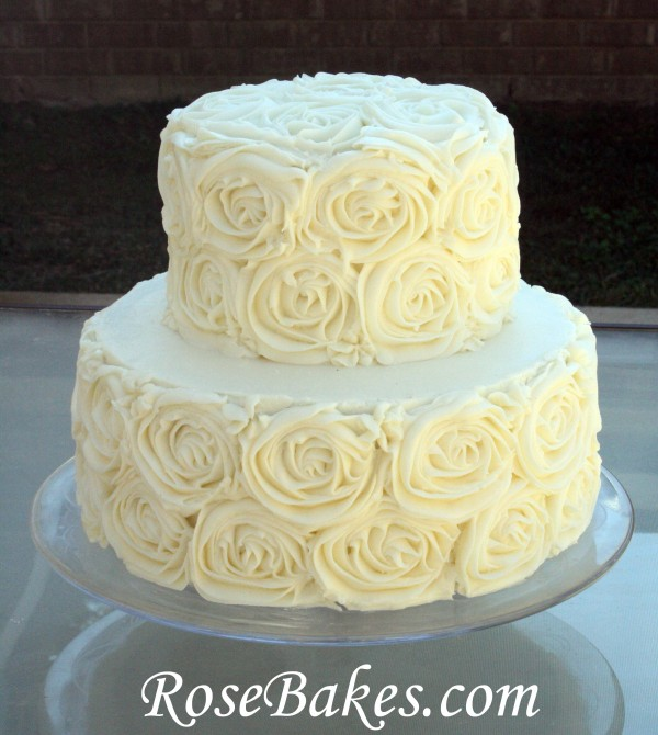 Anniversary Buttercream Roses Cake