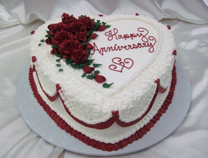 Anniversary Sheet Cakes with Hearts