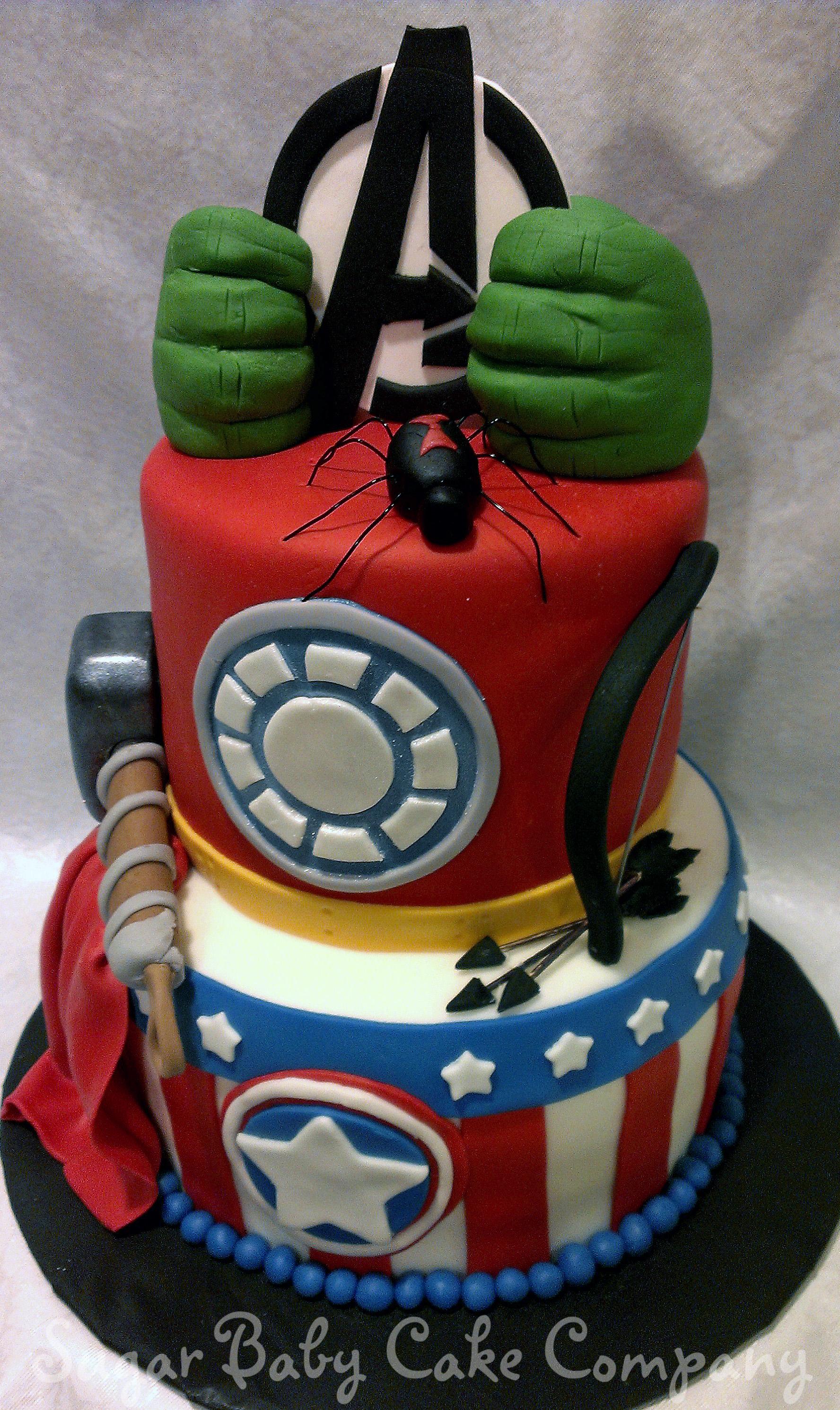 Fine 5 Avengers Cakes For Boys Photo Avengers Birthday Cake Boy Personalised Birthday Cards Akebfashionlily Jamesorg