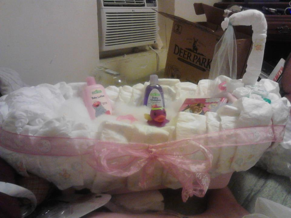 Baby Bath Tub Diaper Cake