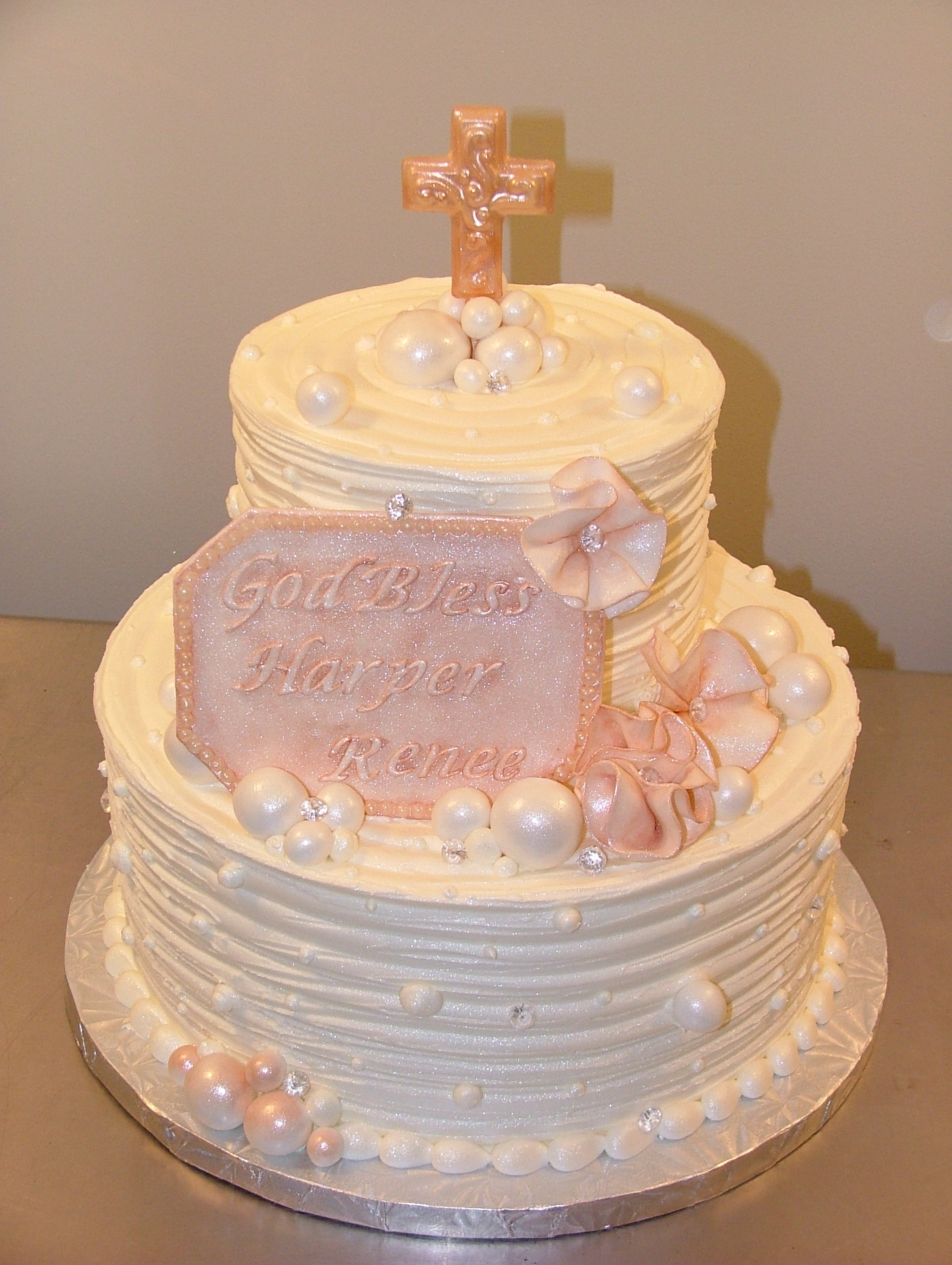12 Photos of Elegant Baby Boy Christening Cakes