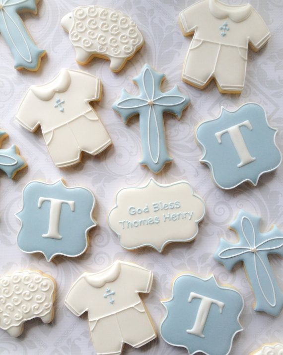 Baby Girl Baptism Sugar Cookies