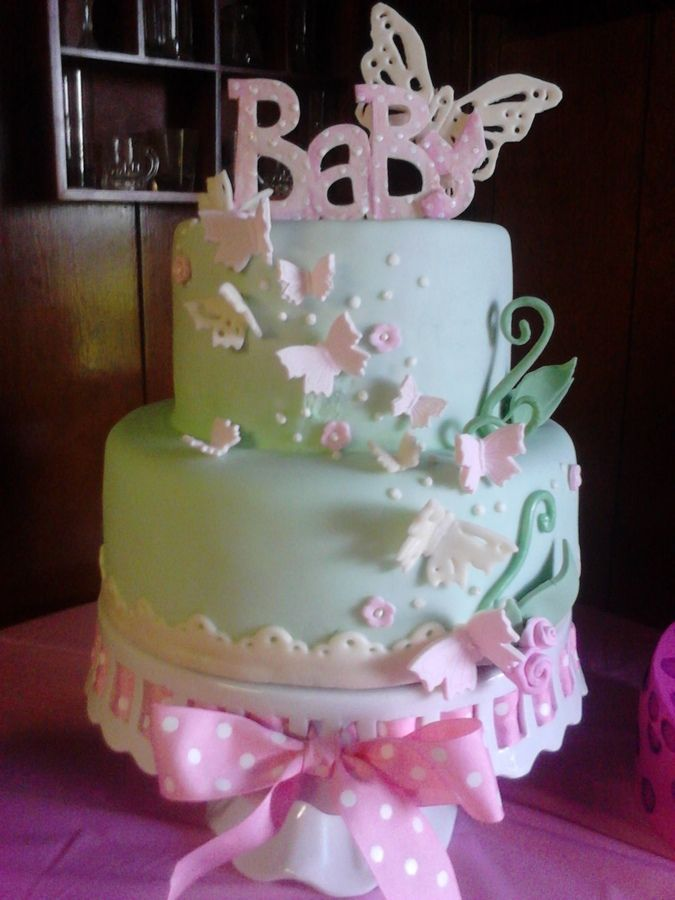 Baby Shower Cake Butterflies