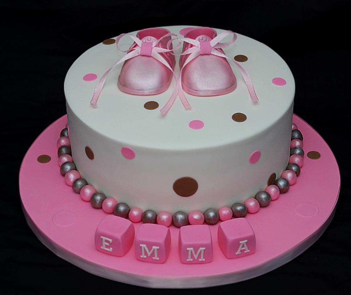 Baby Shower Cakes No Fondant