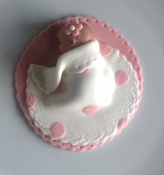Baby Shower Fondant Cake Topper