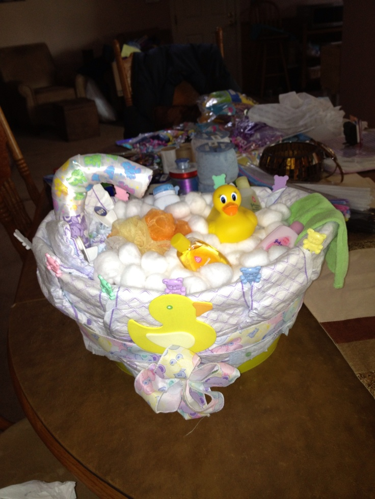 Bathtub Diaper Cake