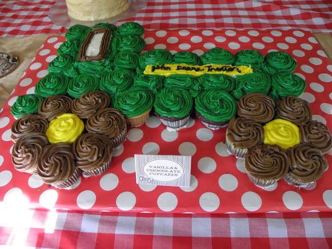Birthday Cupcake Cake Tractor