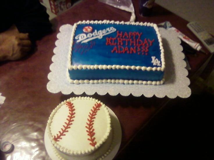 Blue Dodgers Baseball Cakes
