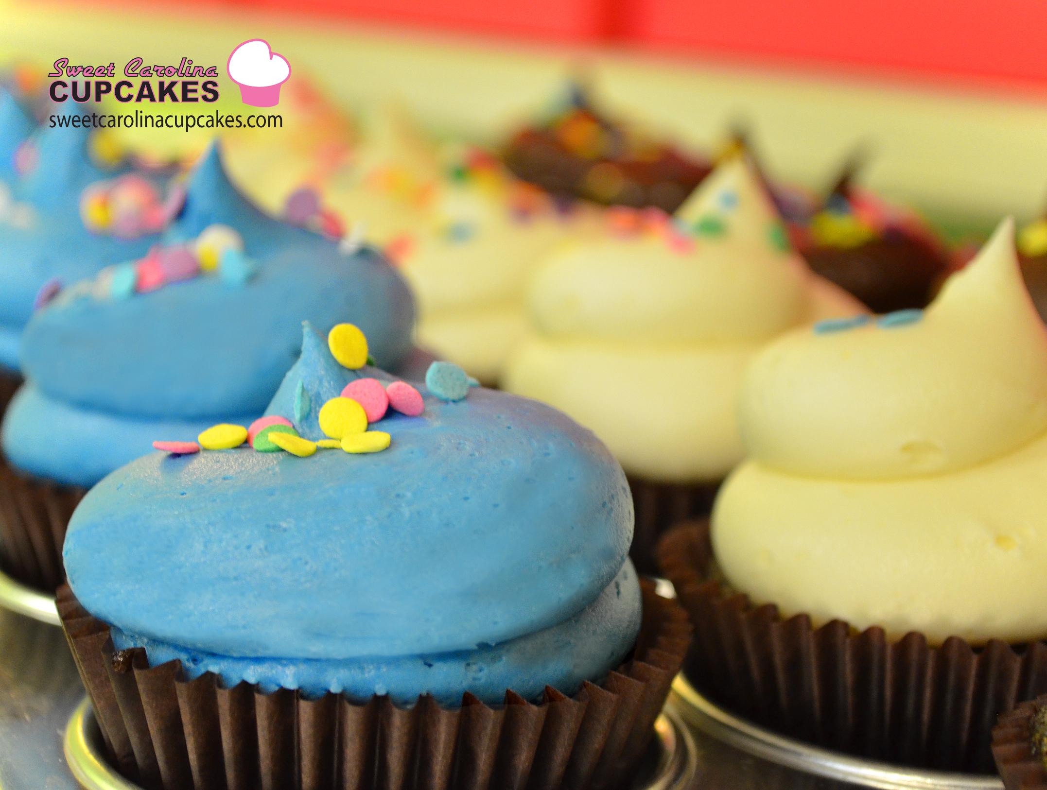 Blue Vanilla Cupcake