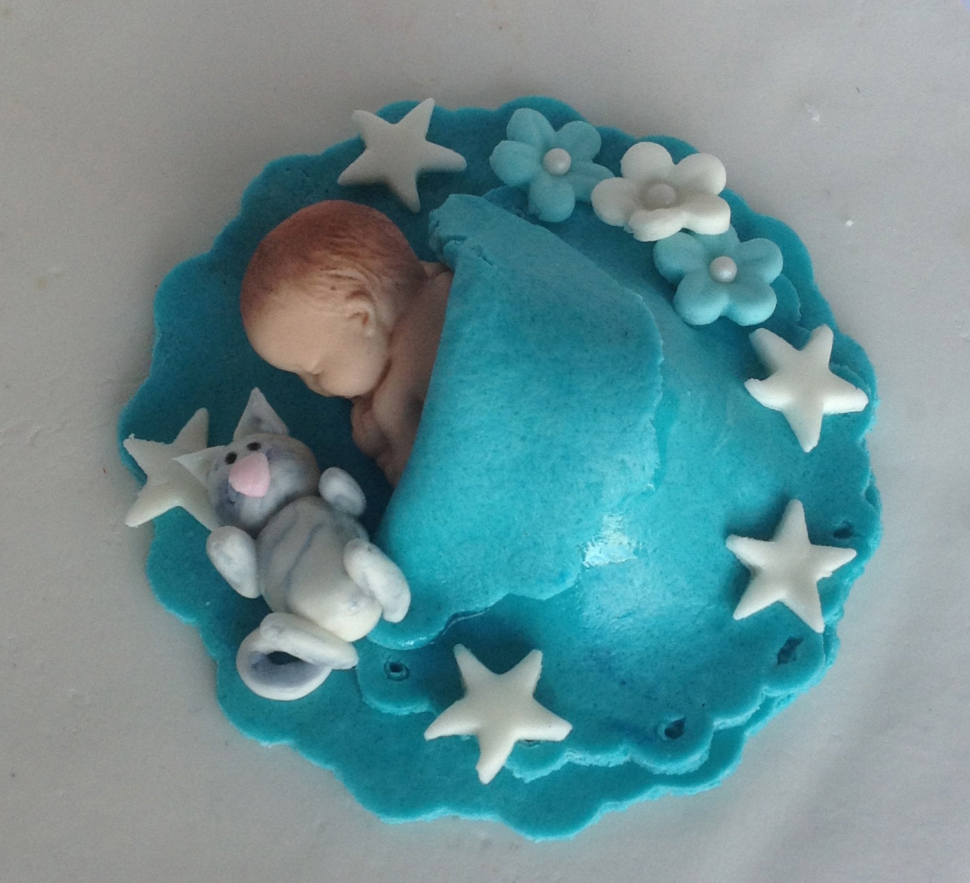 Boy Baby Shower Fondant Cake Toppers