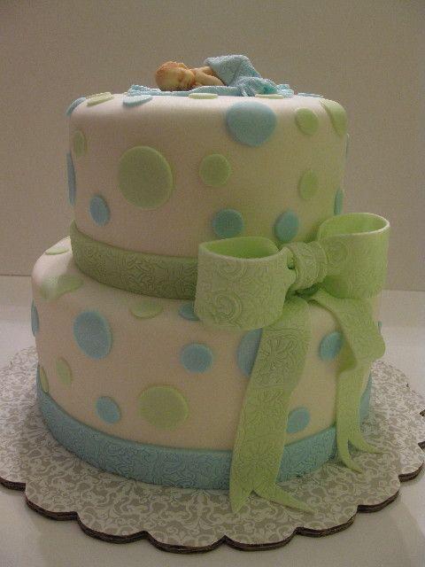 Boy Baby Shower Fondant Cake