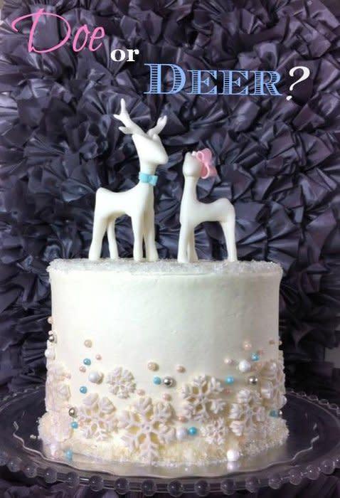 Buck or Doe Gender Reveal Cake
