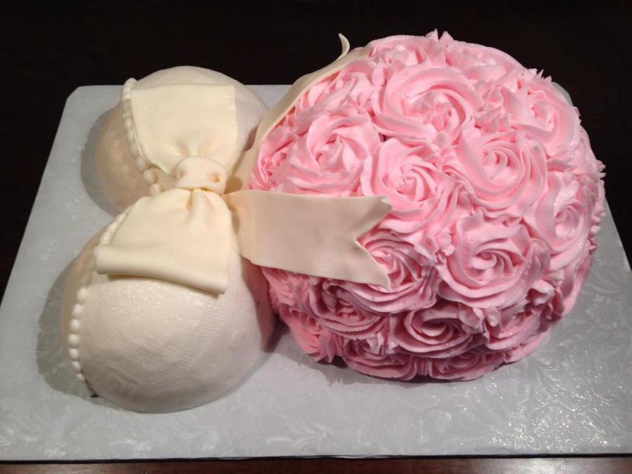 Buttercream Baby Shower Belly Cake