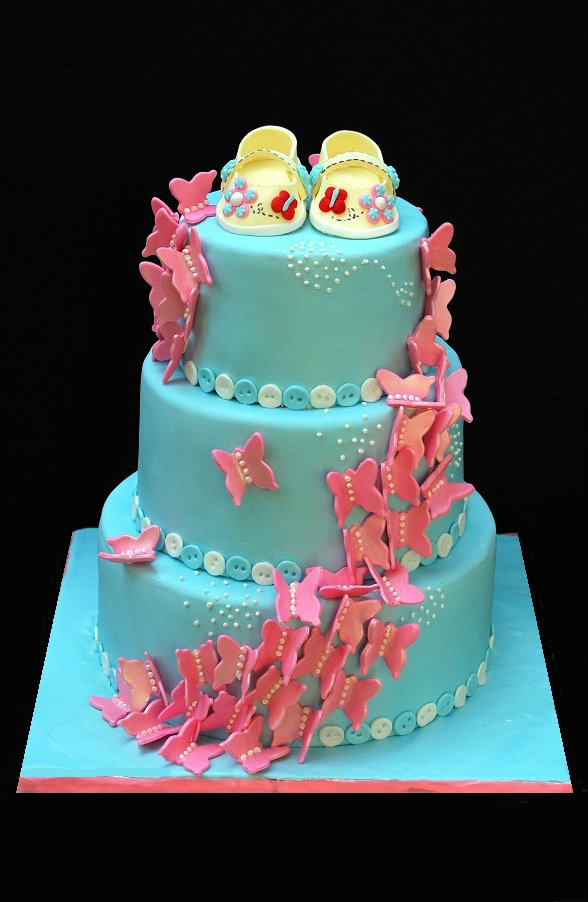 Butterflies Themed Baby Showers Cakes
