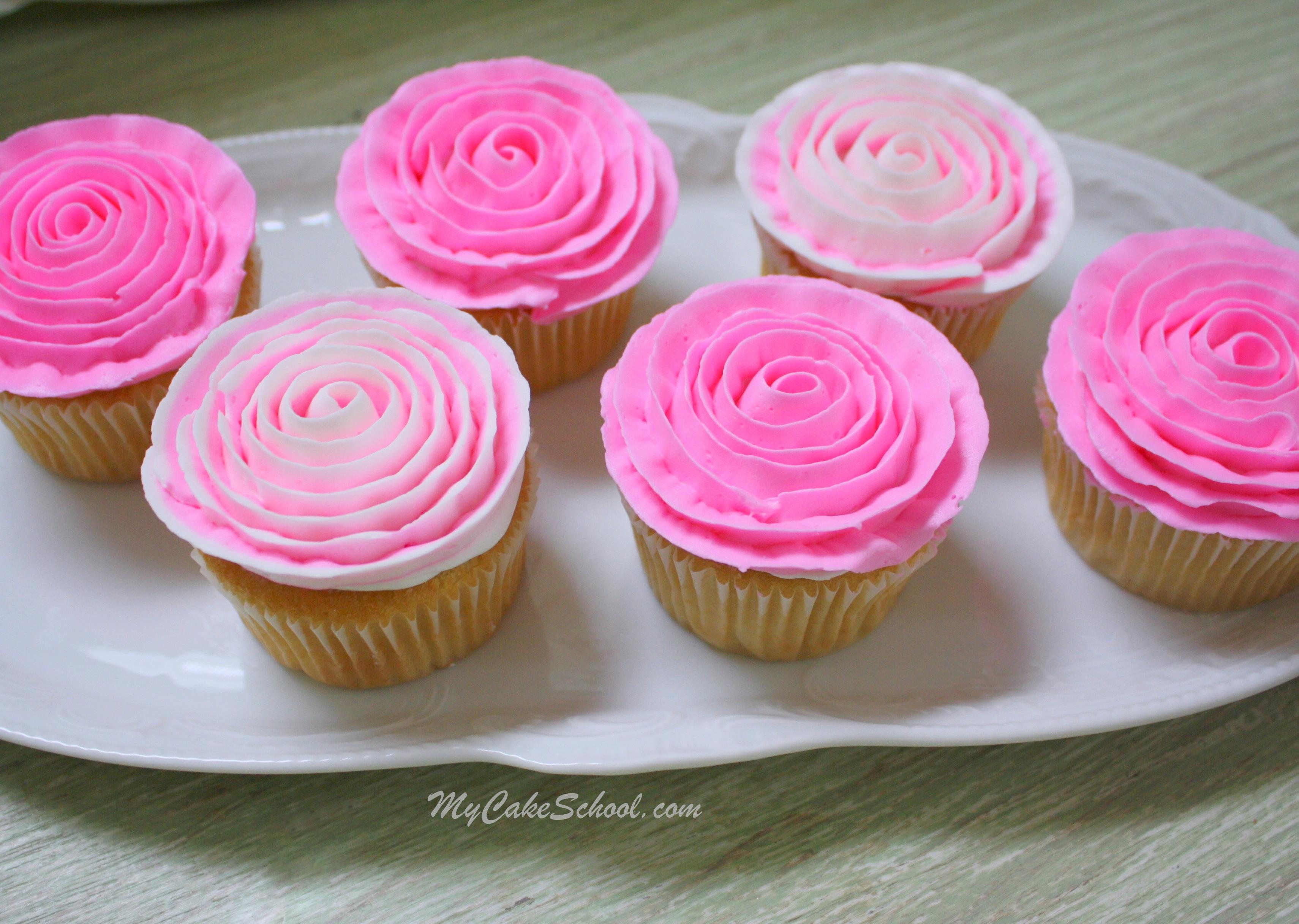 Cake Decorating Roses Buttercream