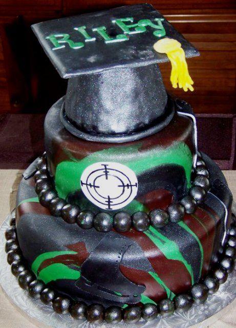 Camo Graduation Cake
