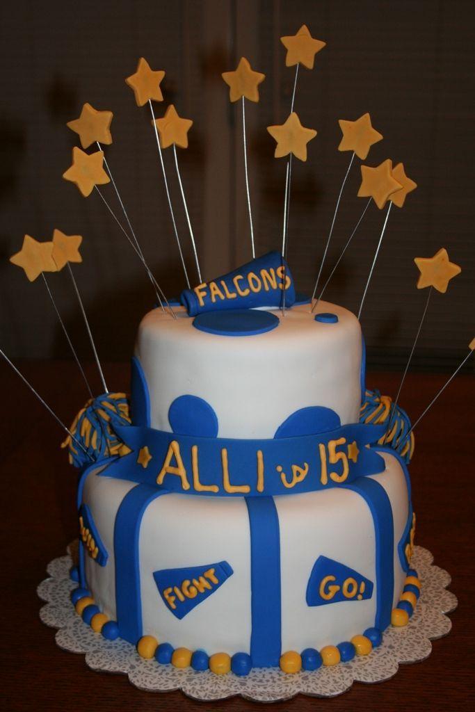 Cheerleading Birthday Party Cake