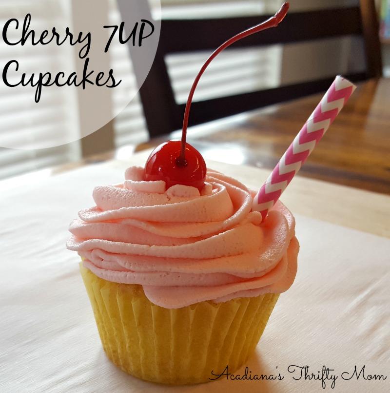 Cherry 7 Up Cupcakes