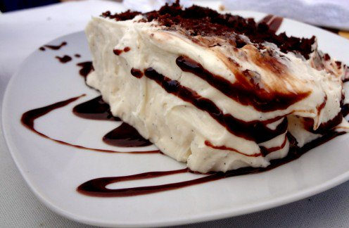 Cherry Chocolate Layer Cake with Cream Cheese Frosting