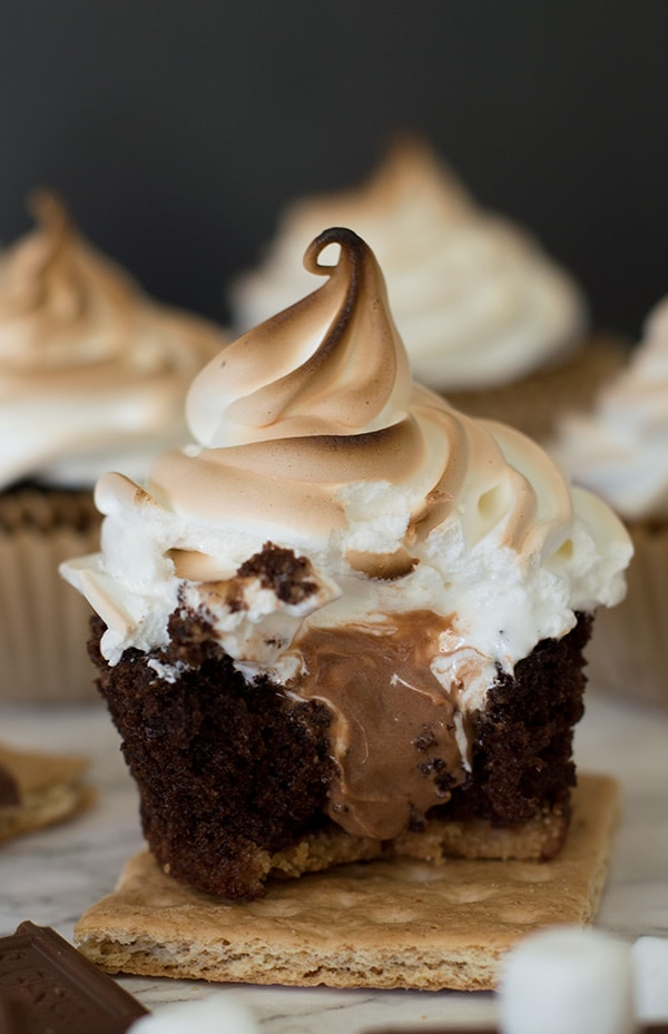 Chocolate S'mores Cupcakes Recipe