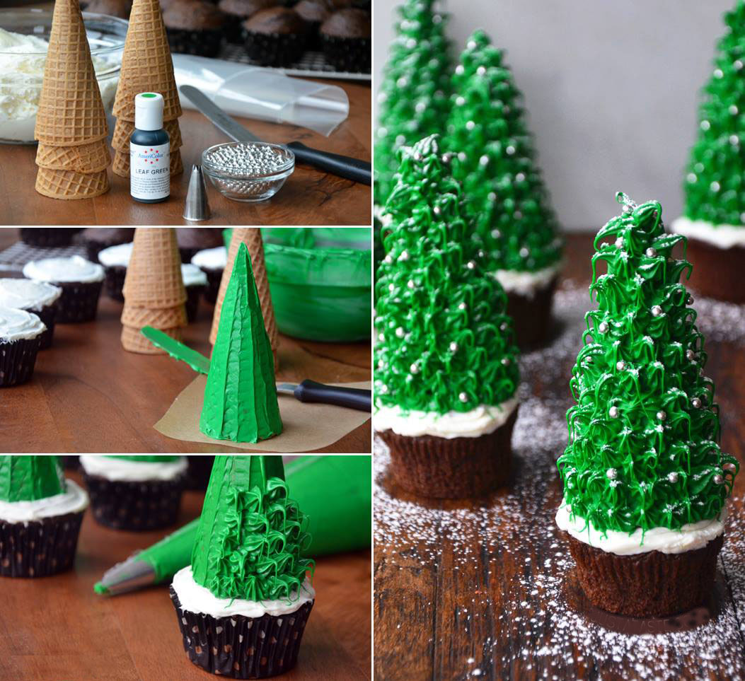 Christmas Tree Cupcake Cone Recipe