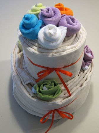 Cloth Diaper Baby Shower Cake