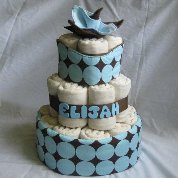 Cloth Diaper for Baby Shower Cake
