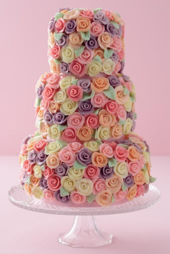 Colored Cake Roses