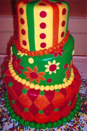Crazy Birthday Cake Fondant